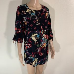 Anthropologie Fig And Flower BOHO Blouse Top M